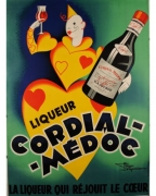 Cordial Medoc Original Vintage Poster