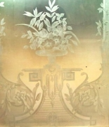French acid etched glass panels