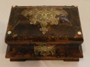 George II Faux Tortoiseshell tea caddy