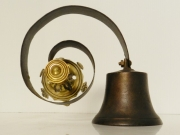 Late 19th C bronze shop door bell