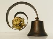 Late 19th C bronze shop door bell