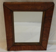 English oak veneered mirror