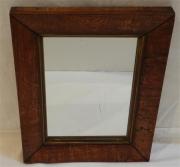 English oak veneered mirror