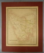 Original hand coloured map of Van Diemens Land by John Dower.