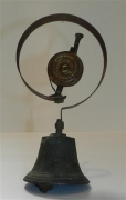 Brass servants' bell and pull