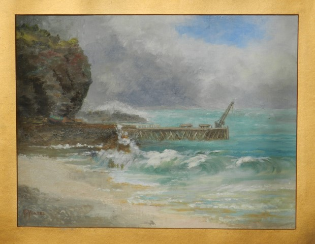 Oil Painting of the Second Valley Jetty